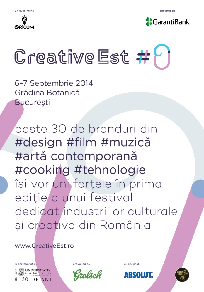 afis creative est #0 pentru parteneri media si participanti
